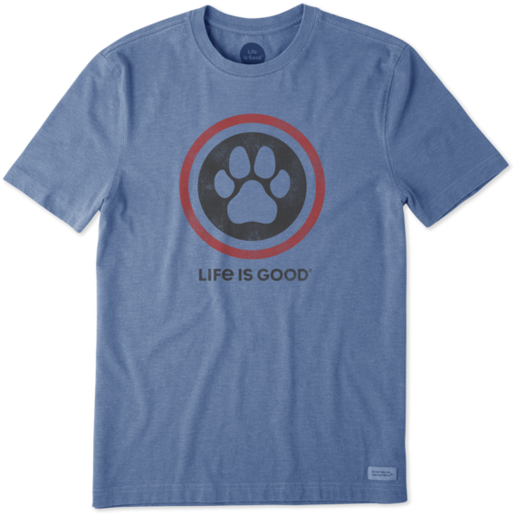 Men's Dog Paw Coin Crusher Tee