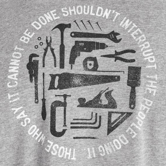 Men's Don't Interrupt Handyman Crusher Tee