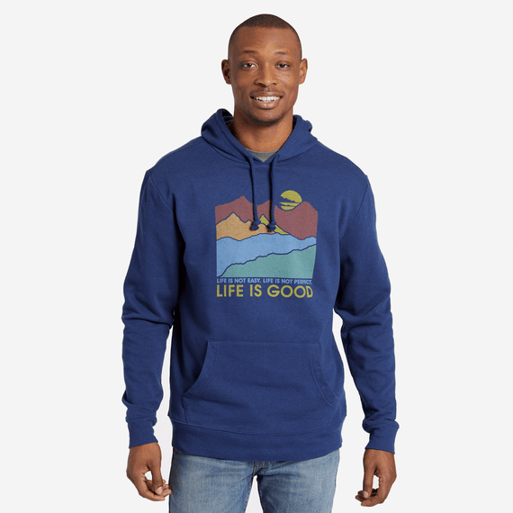 Men's Easy Perfect Good Simply True Hoodie