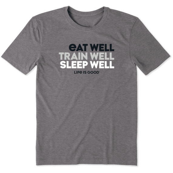 Men's Eat Well, Train Well, Sleep Well Cool Tee