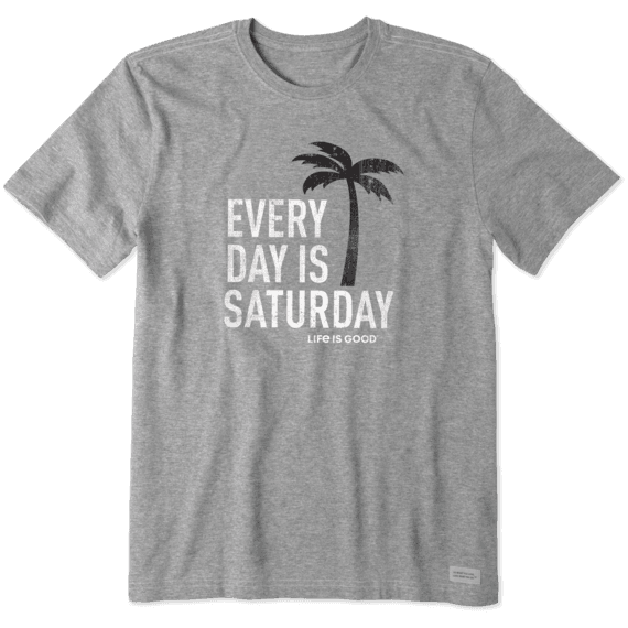 Men's Every Day Is Saturday Crusher Tee