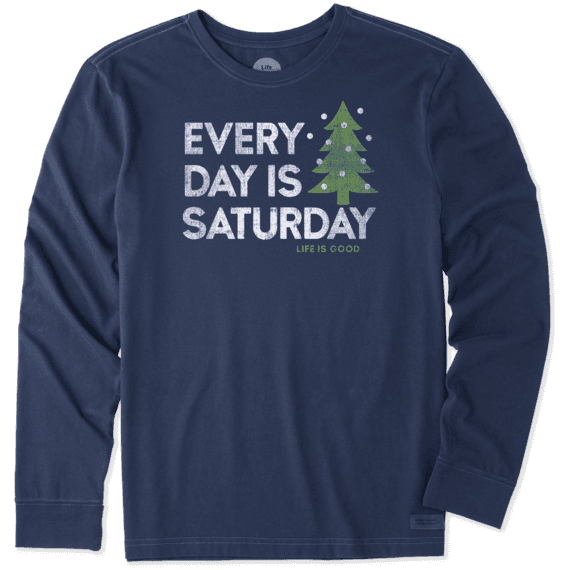 Men's Every Day Is Saturday Winter Long Sleeve Crusher Tee