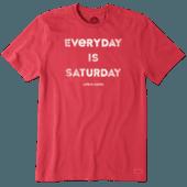 Men's Everyday Is Saturday Crusher Tee