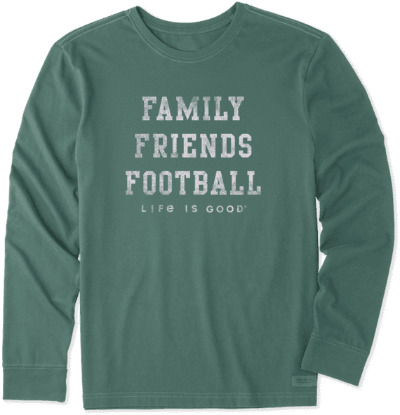 Men's Family Friends Football Long Sleeve Crusher Tee