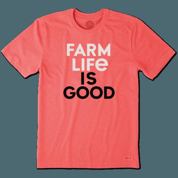 Men's Farm Life Is Good Crusher Tee