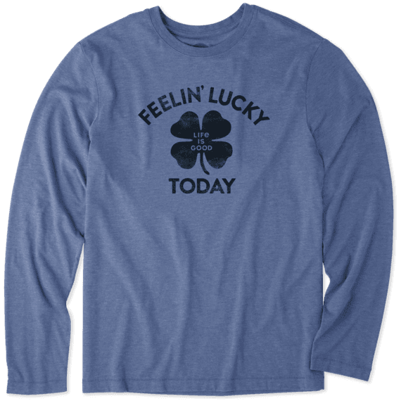 Men's Feelin' Lucky Today Long Sleeve Cool Tee