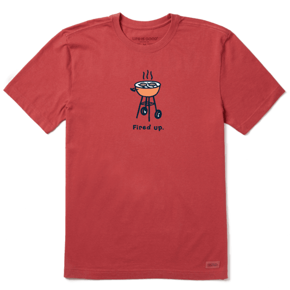Men's Fired Up Grill Vintage Crusher Tee