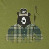 Men's Fishing Bear Crusher Tee