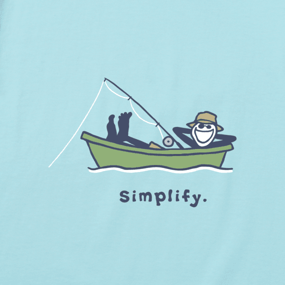 Men's Fishing Jake Long Sleeve Vintage Crusher Tee