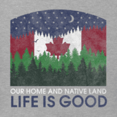 Men's Canada Flag Mountain Landscape Crusher Tee