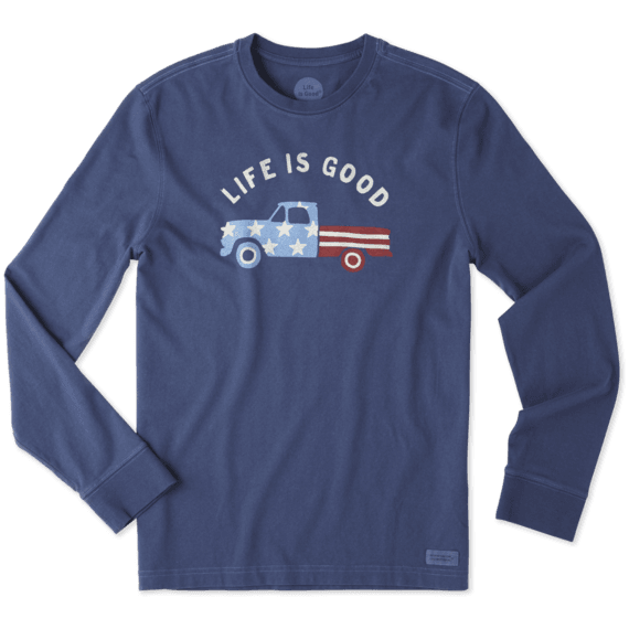 Men's Flag Truck Long Sleeve Crusher Tee