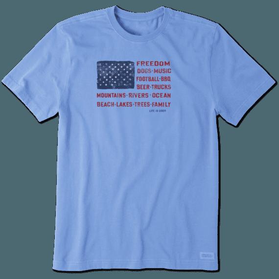 Men's Flag Words Crusher Tee