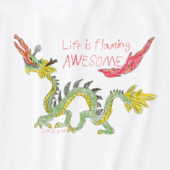 Men's Flaming Awesome Crusher Tee