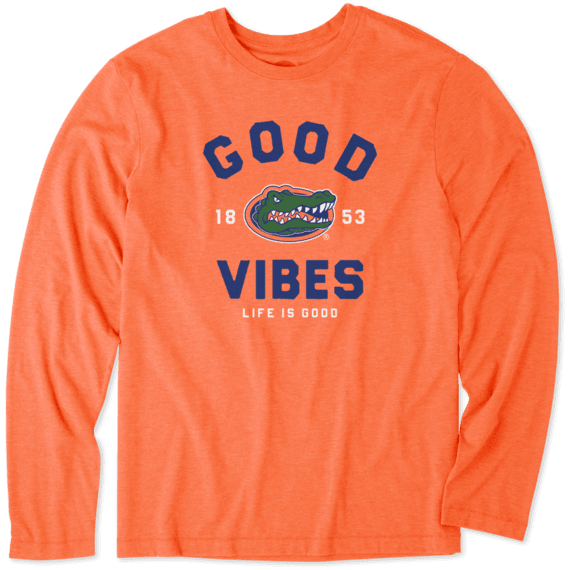 Men's Florida Gators Good Vibes Arc Long Sleeve Cool Tee
