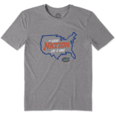 Men's Florida Gators Nation Outline Cool Tee