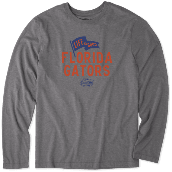Men's Florida Gators Pennant Long Sleeve Cool Tee