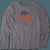Men's Florida Gators Pennant Long Sleeve Cool Tee