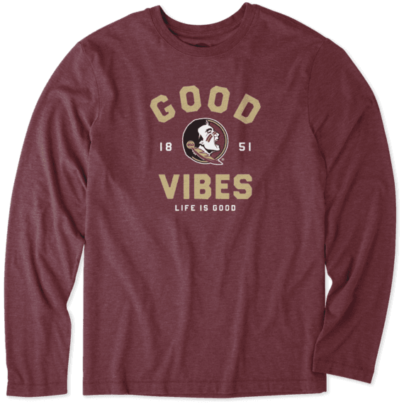 Men's Florida State Good Vibes Arc Long Sleeve Cool Tee
