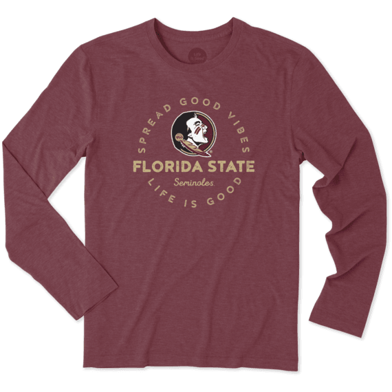 Men's Florida State Good Vibes Long Sleeve Cool Tee