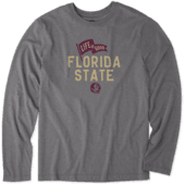 Men's Florida State Pennant Long Sleeve Cool Tee