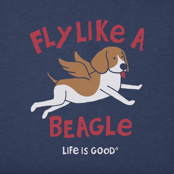 Men's Fly Like A Beagle Crusher Tee