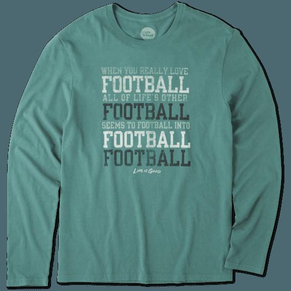 Men's Football Long Sleeve Smooth Tee