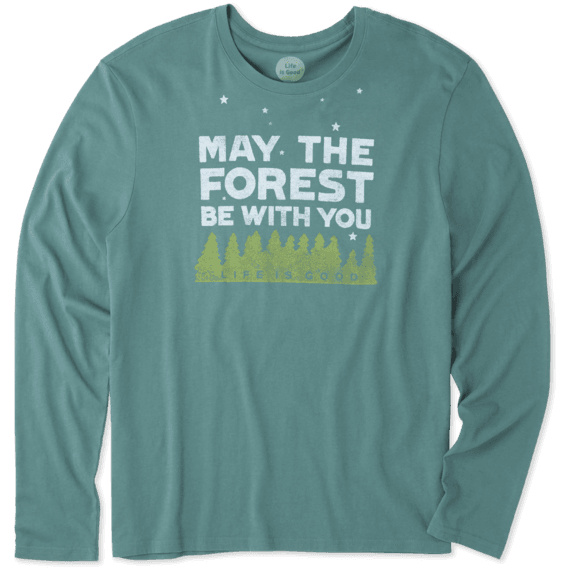 Men's Forest Be With You Long Sleeve Smooth Tee