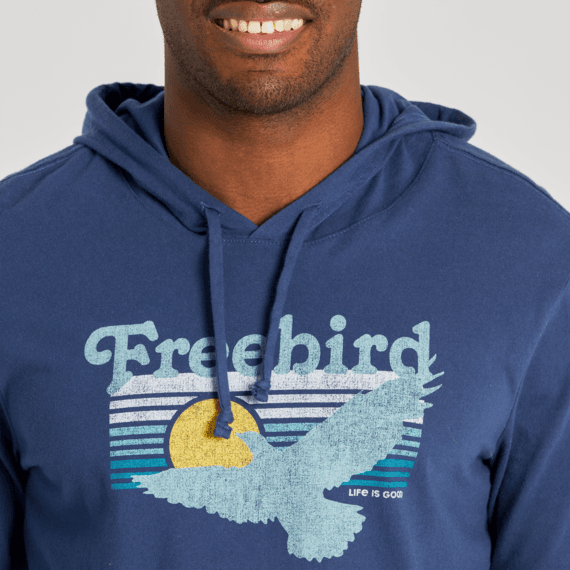 Men's Free Bird Long Sleeve Hooded Crusher