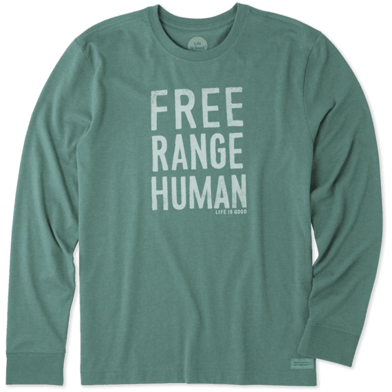 Men's Free Range Human Long Sleeve Crusher Tee