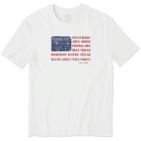 Men's Freedom Flag Smooth Tee