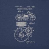 Men's Freedom Machine Blueprint Long Sleeve Crusher Tee