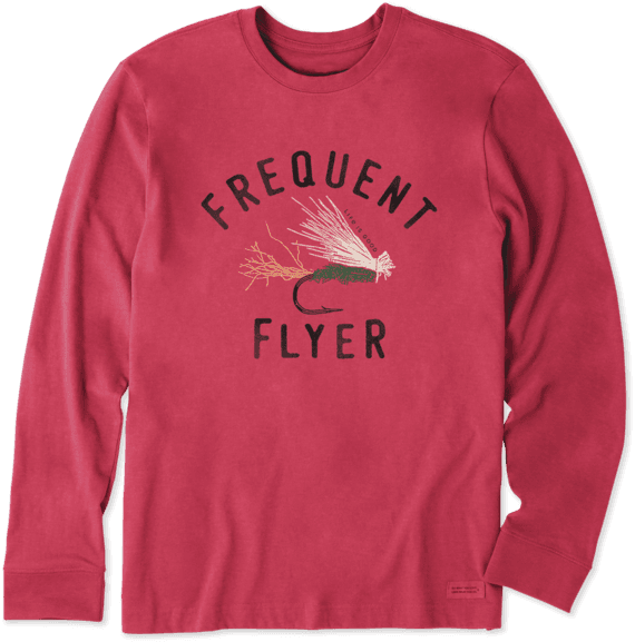 Men's Frequent Flyer Long Sleeve Crusher Tee