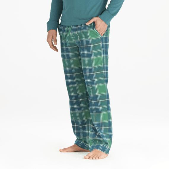 Men's Fresh Pine Plaid Classic Sleep Pant