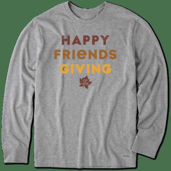 Men's Friendsgiving Long Sleeve Crusher Tee