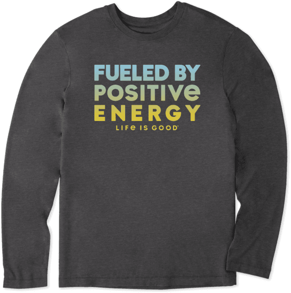 Men's Fueled by Positive Energy Long Sleeve Cool Tee