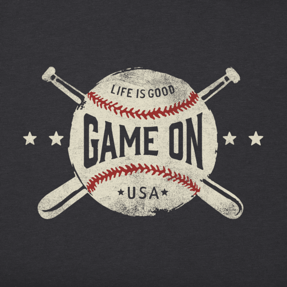 Men's Game On Baseball Crusher Tee