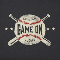 Men's Game On Baseball Crusher Tee