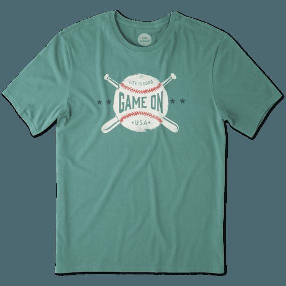 Men's Game On Baseball Smooth Tee
