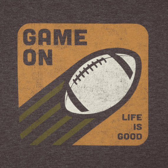 Men's Game On Football Cool Tee