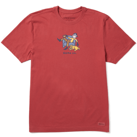 Men's Jake and Rocket Game On Crusher Tee