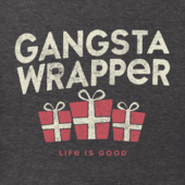 Men's Gangsta Wrapper Long Sleeve Crusher Tee