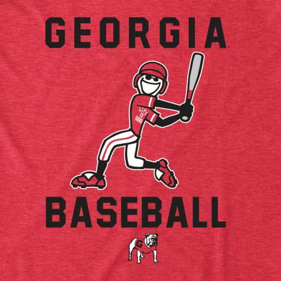 Men's Georgia Baseball Jake Cool Tee