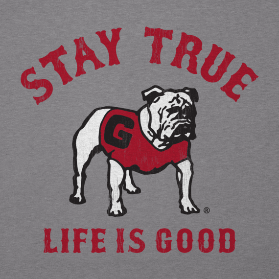 Men's Georgia Bulldogs Stay True Long Sleeve Cool Tee