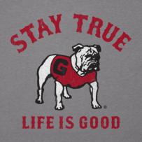 Men's Georgia Bulldogs Stay True Long Sleeve Cool Tee