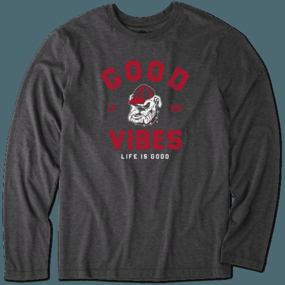 Men's Georgia Good Vibes Arc Long Sleeve Cool Tee