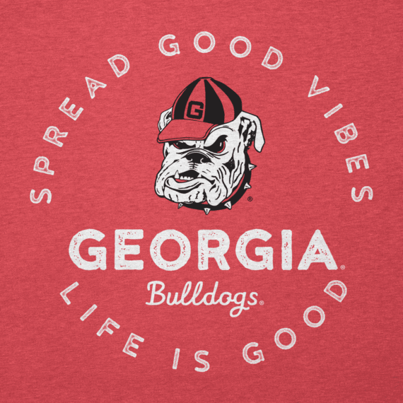 Men's Georgia Good Vibes Long Sleeve Cool Tee