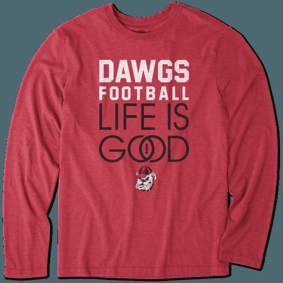 Men's Georgia Infinity Football Long Sleeve Cool Tee
