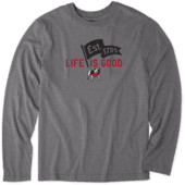 Men's Georgia Pennant Long Sleeve Cool Tee