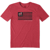 Men's Georgia Team Flag Cool Tee