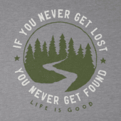 Men's Get Lost Get Found Long Sleeve Cool Tee